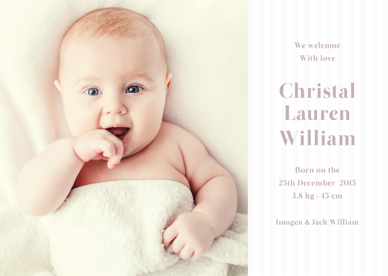 Little Smile - Baby Announcement