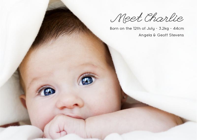 Meet the newbie Type 1 - Baby Announcement