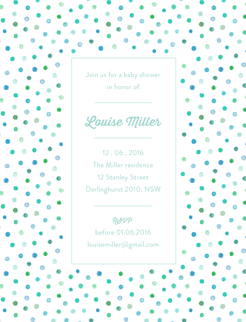 Polka dot shower - Baby Shower Invitations