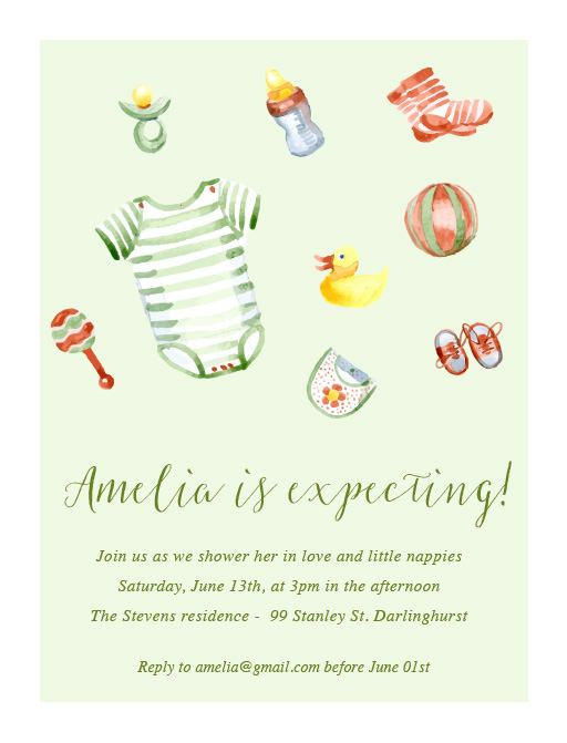 Rubber duck - baby shower invitations