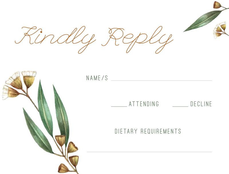 Under the Eucalyptus - RSVP Cards