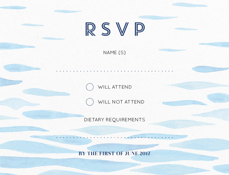 Clear Blue - RSVP Cards