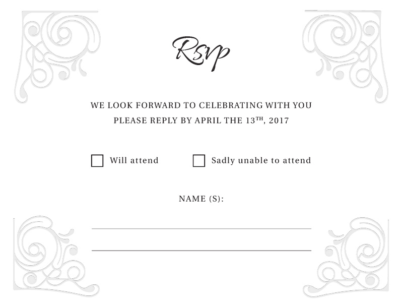 Simple White - RSVP Cards