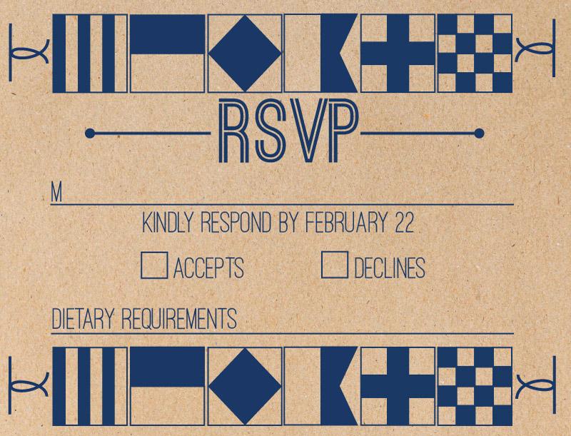 Naval - RSVP Cards