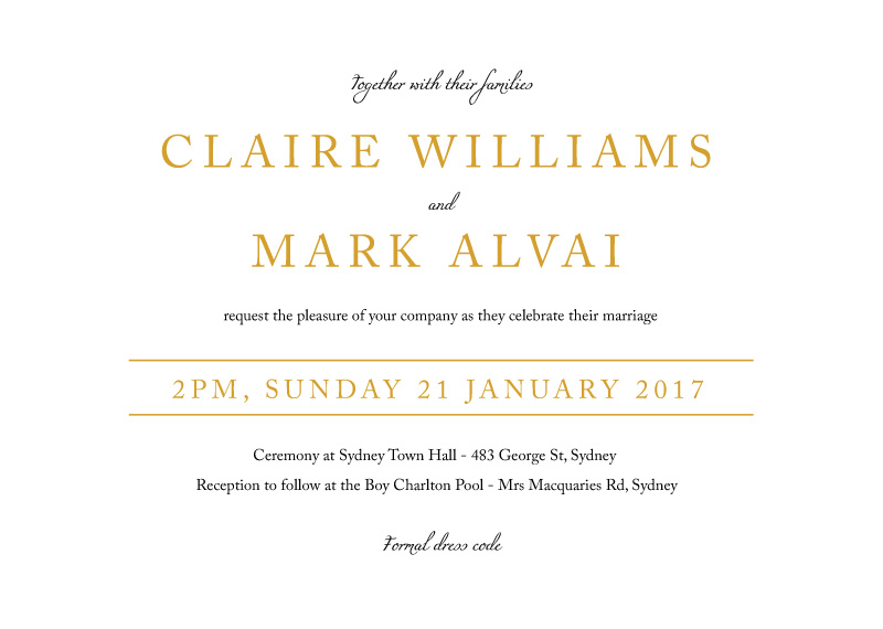 Minimal Foil - Invitations