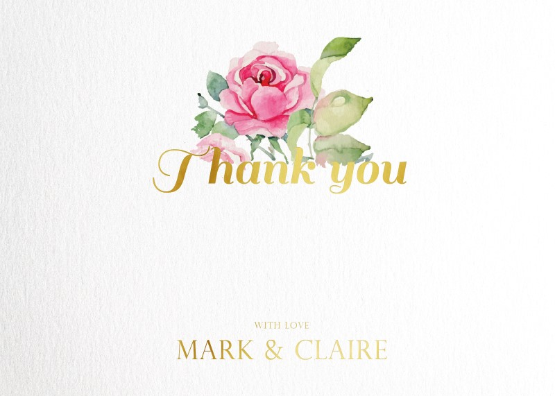 Polkadot Roses - Thank You Cards