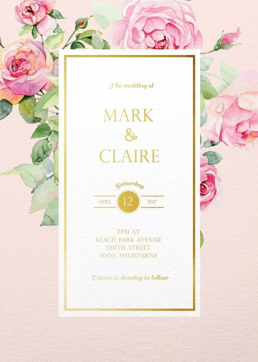 Polkadot Roses - Invitations