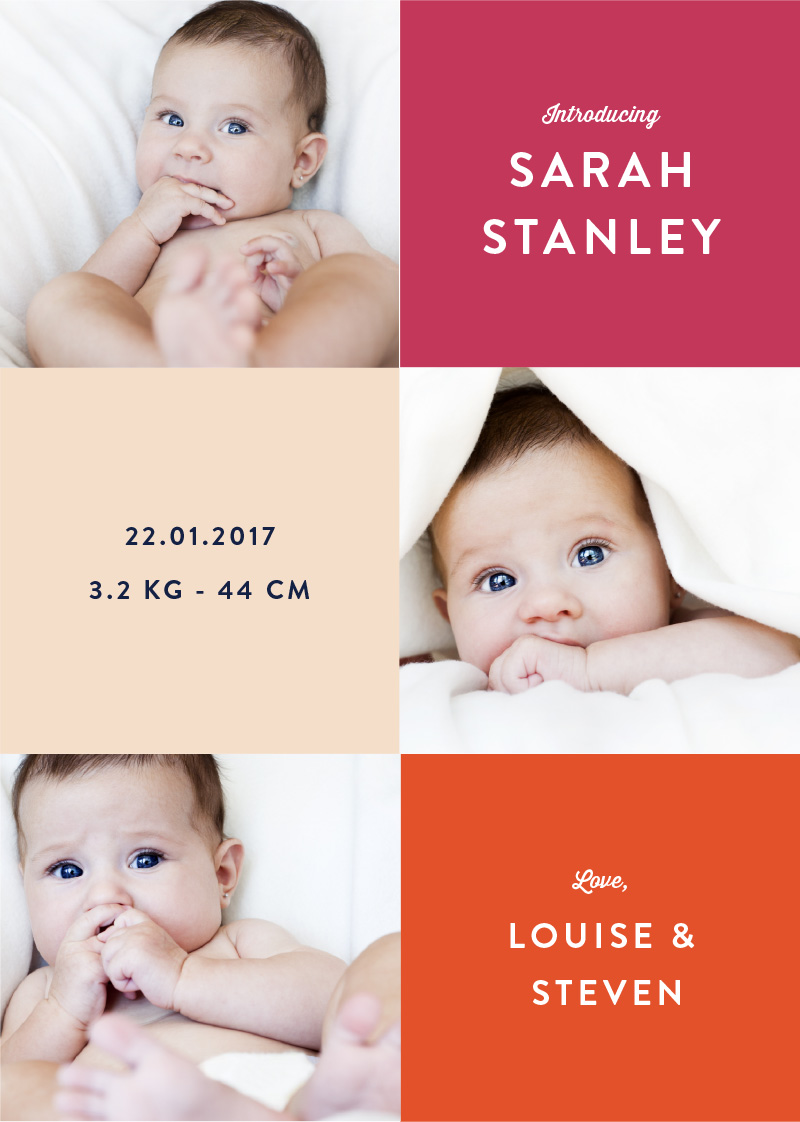 Grid - Baby Announcement