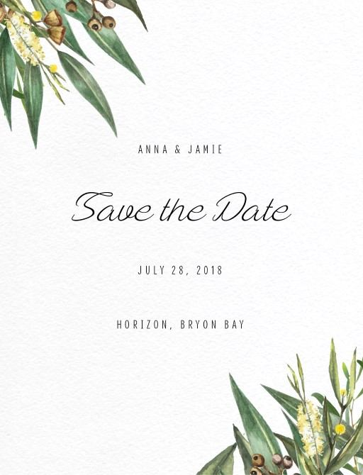 A bouquet - Save The Date