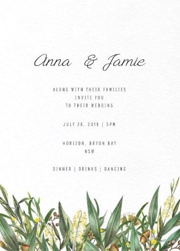 A bouquet - Invitations