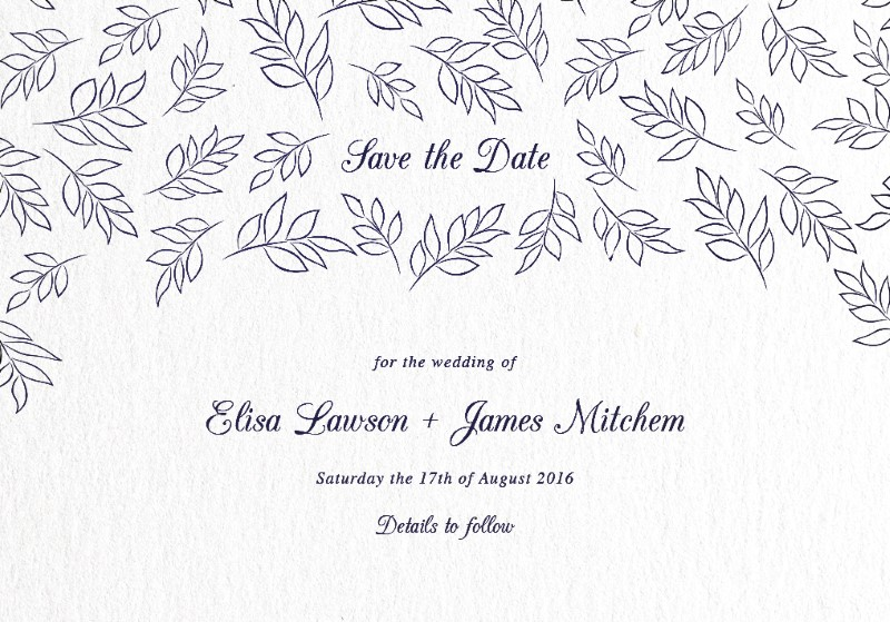 Falling Leaves - Save The Date
