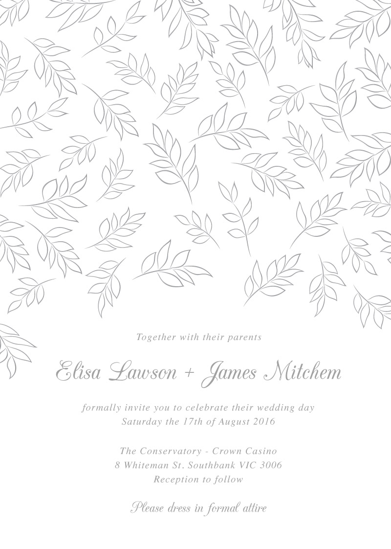 Falling Leaves - Invitations