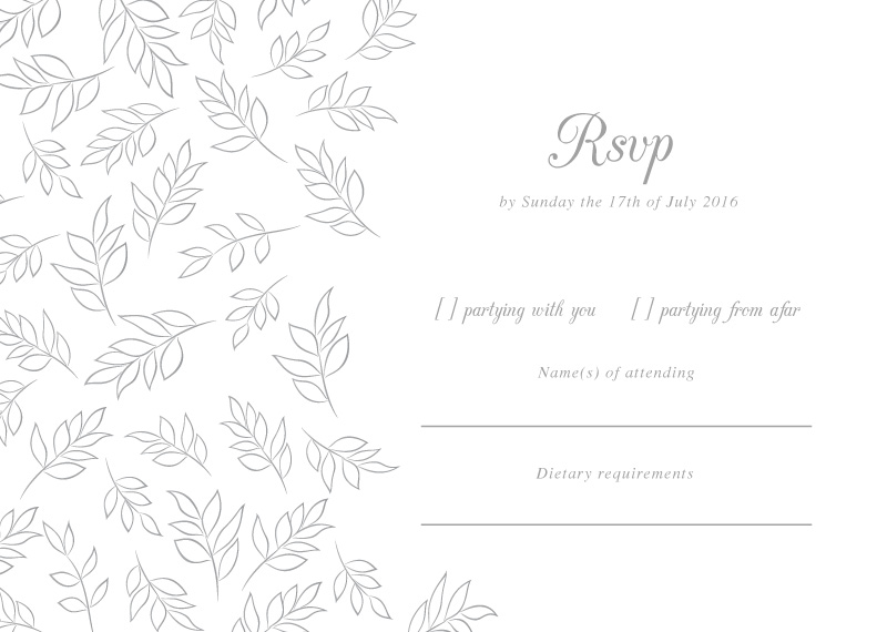 Falling Leaves - RSVP Cards
