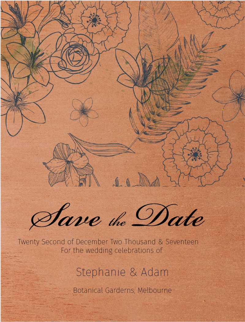 Botanical - Save The Date