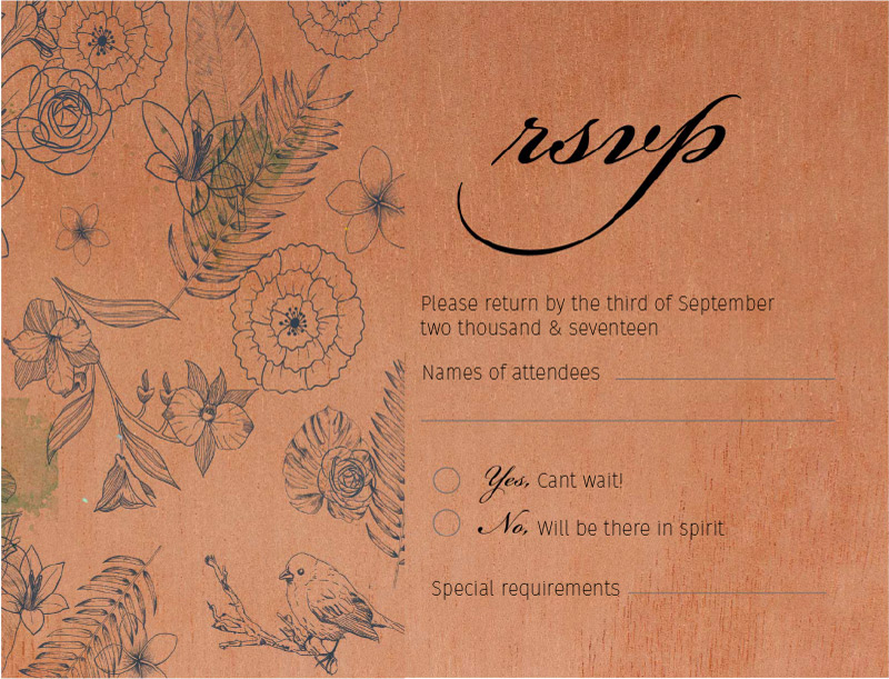 Botanical - RSVP Cards