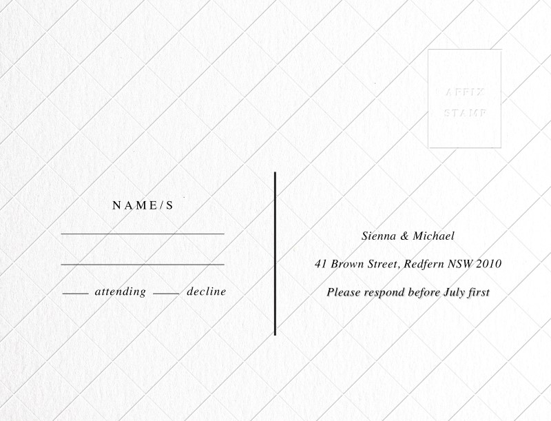 Cross Hatch - RSVP Cards