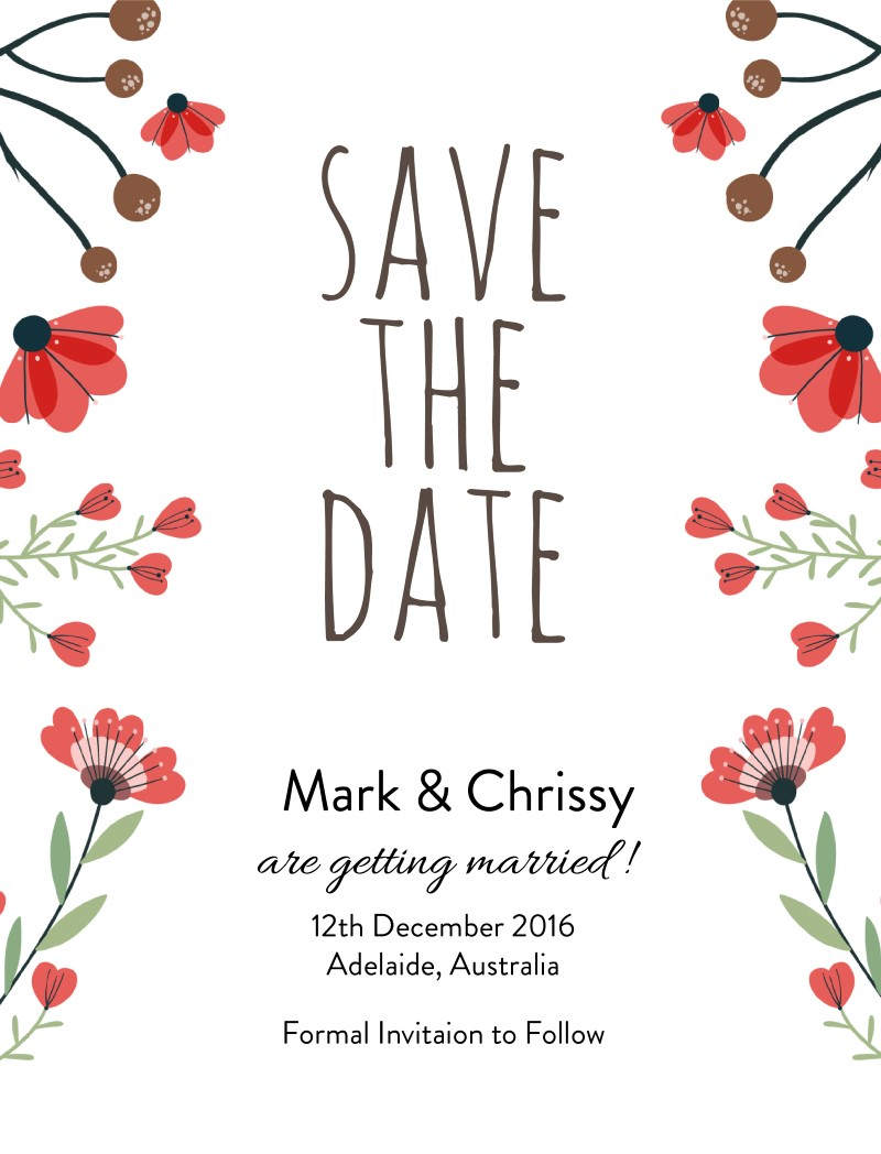Flora Down Under - Save The Date