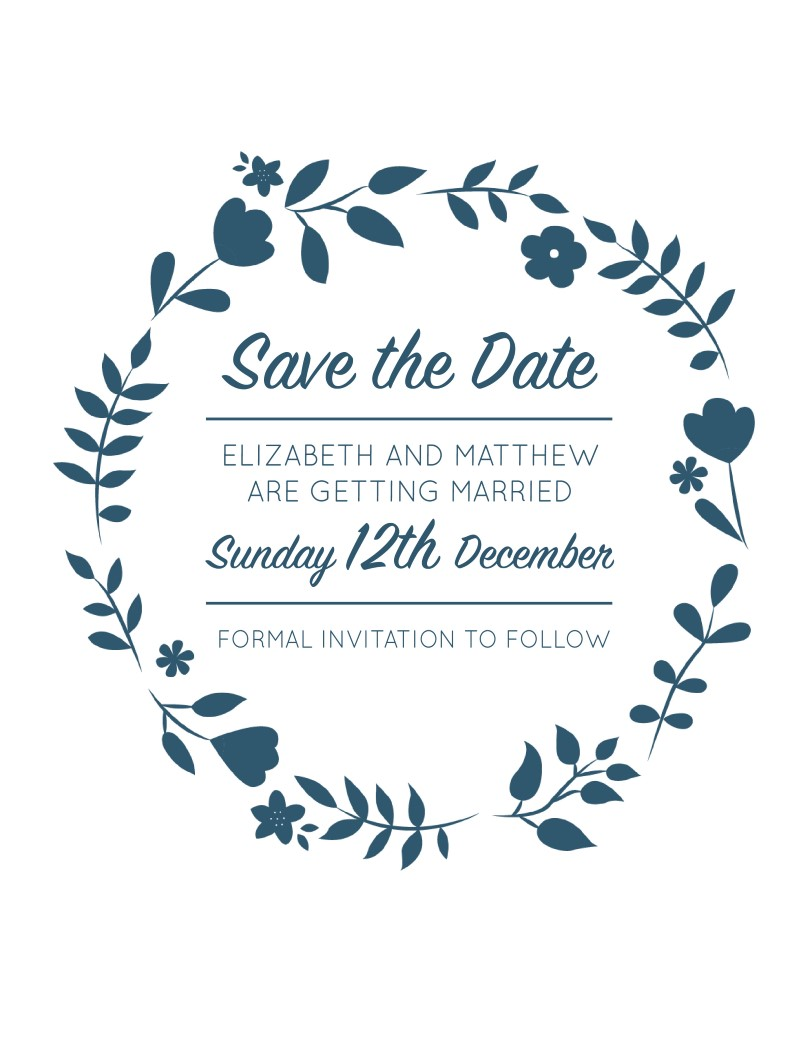 Surrounded by Flowers - Save The Date