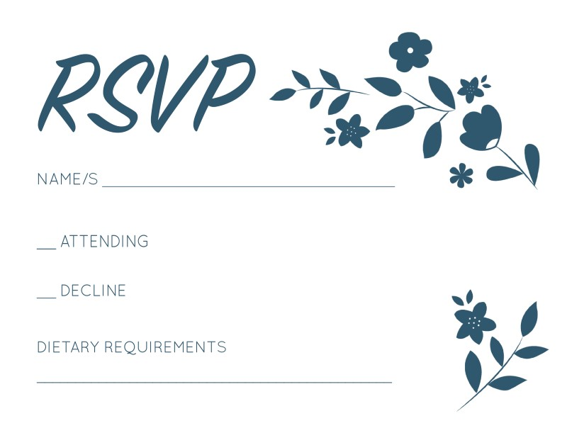Surrounded by Flowers - RSVP Cards