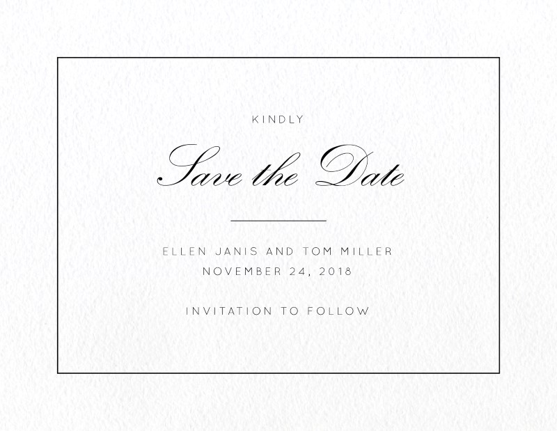 Into the Line - Save The Date