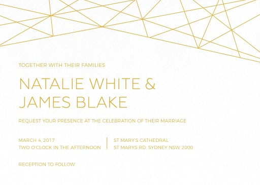 Geometric Copper - Invitations