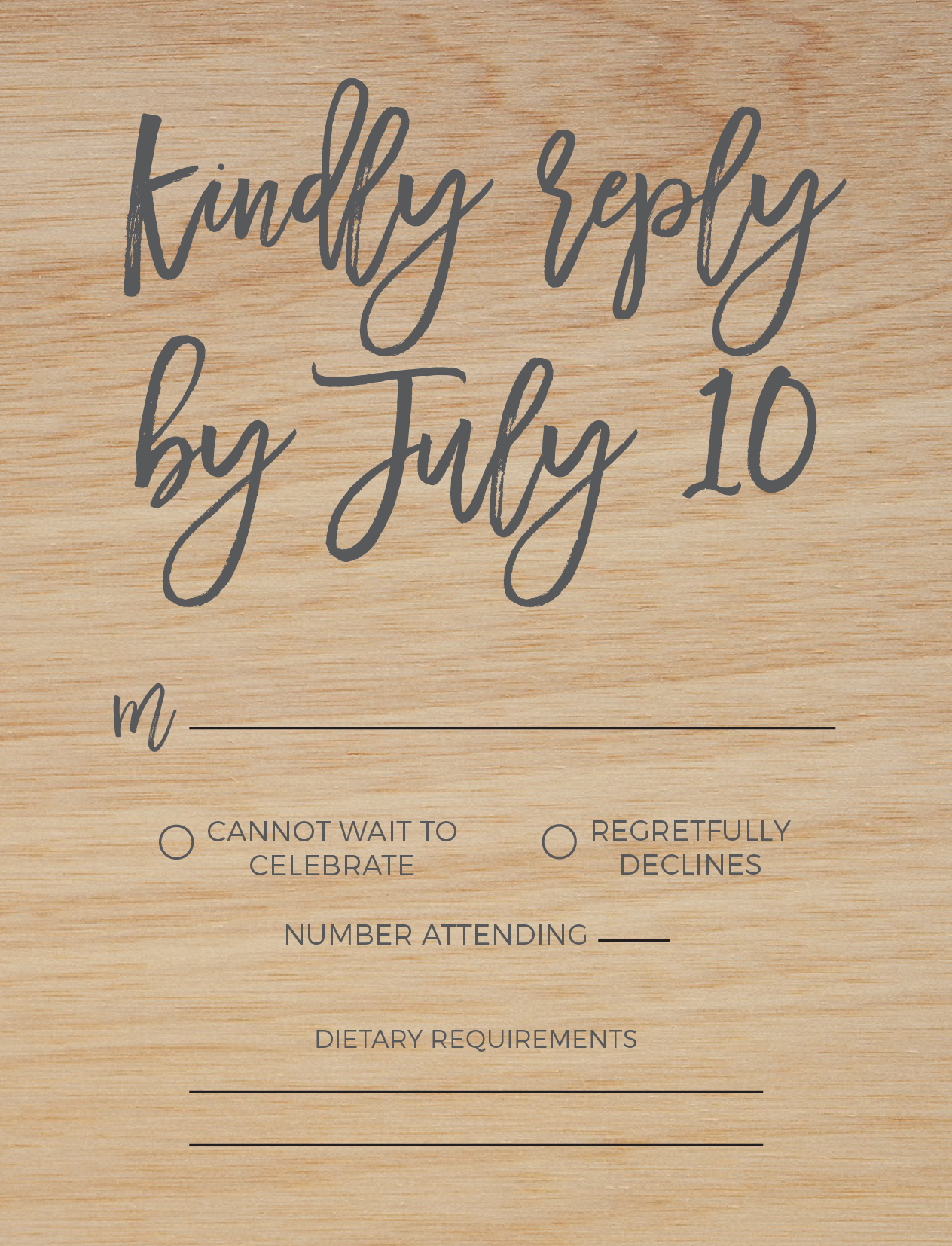 Simply Carefree - RSVP Cards