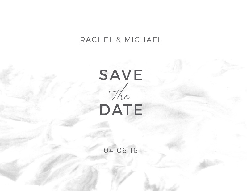 Modern Marble - Save The Date