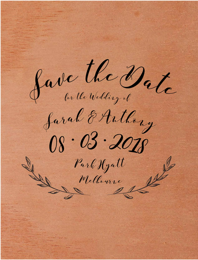 Simple Elegance - Save The Date
