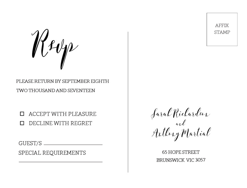 Simple Elegance - RSVP Cards