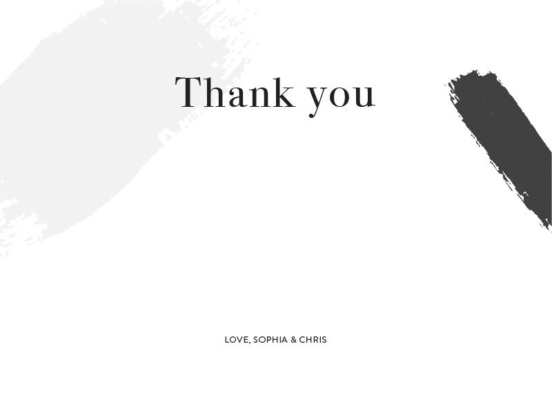 Gold Strokes - Thank You Cards