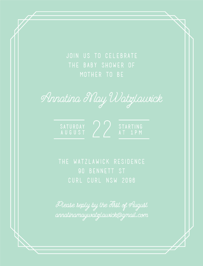 Border - Baby Shower Invitations