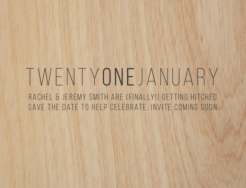 Simple is Best - Save The Date