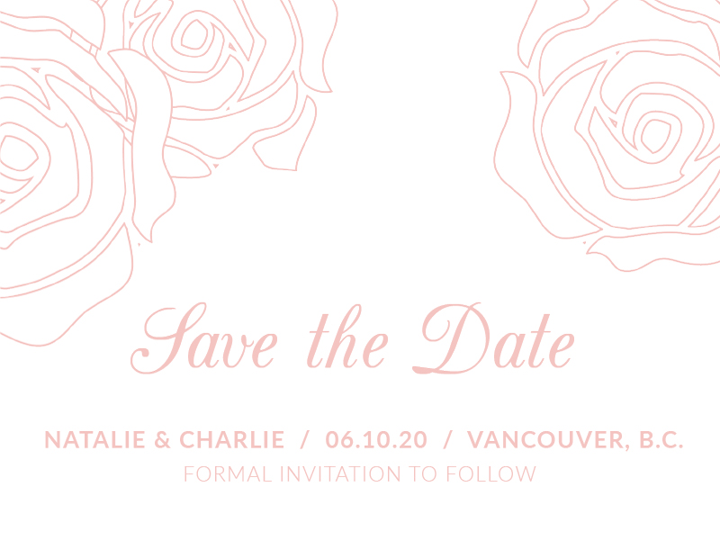 Roses and Elegance - Save The Date