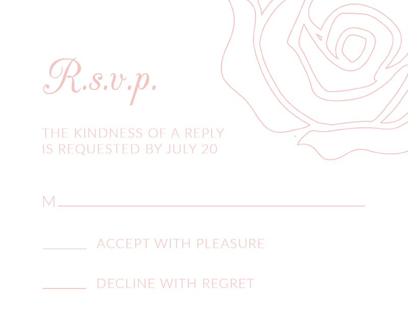 Roses and Elegance - RSVP Cards
