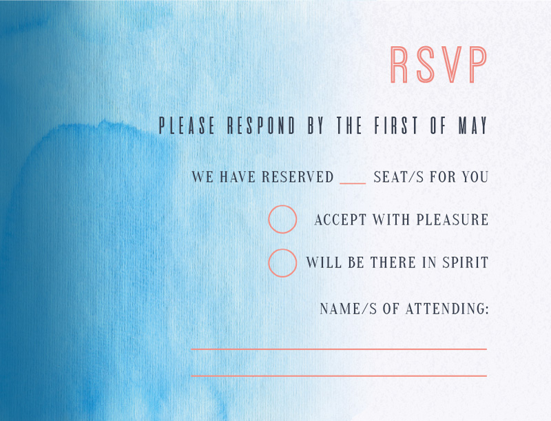 Island in the Sun - RSVP Cards