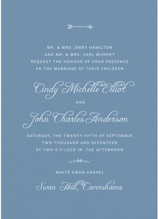 Swan Valley - Invitations