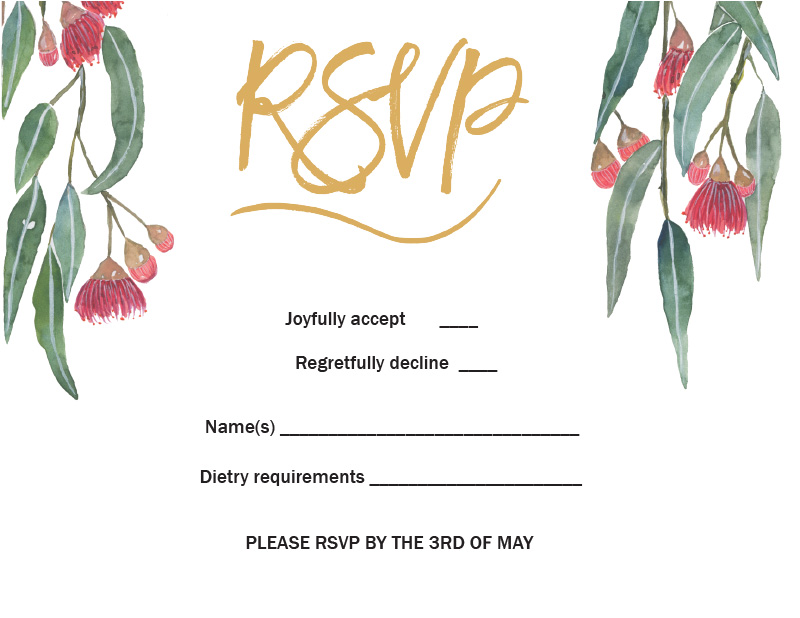 Golden Native - RSVP Cards