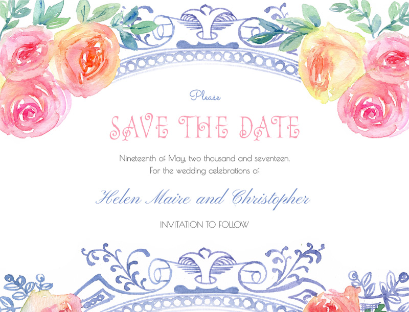 Vintage Mirror - Save The Date