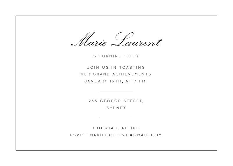 Cheers - Birthday Invitations