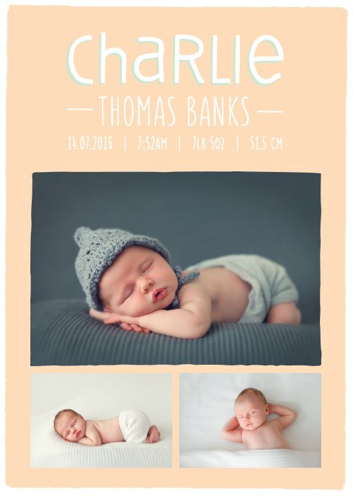 Tiny Yawns - baby announcements