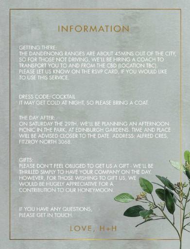 Garden Estate - Information Cards