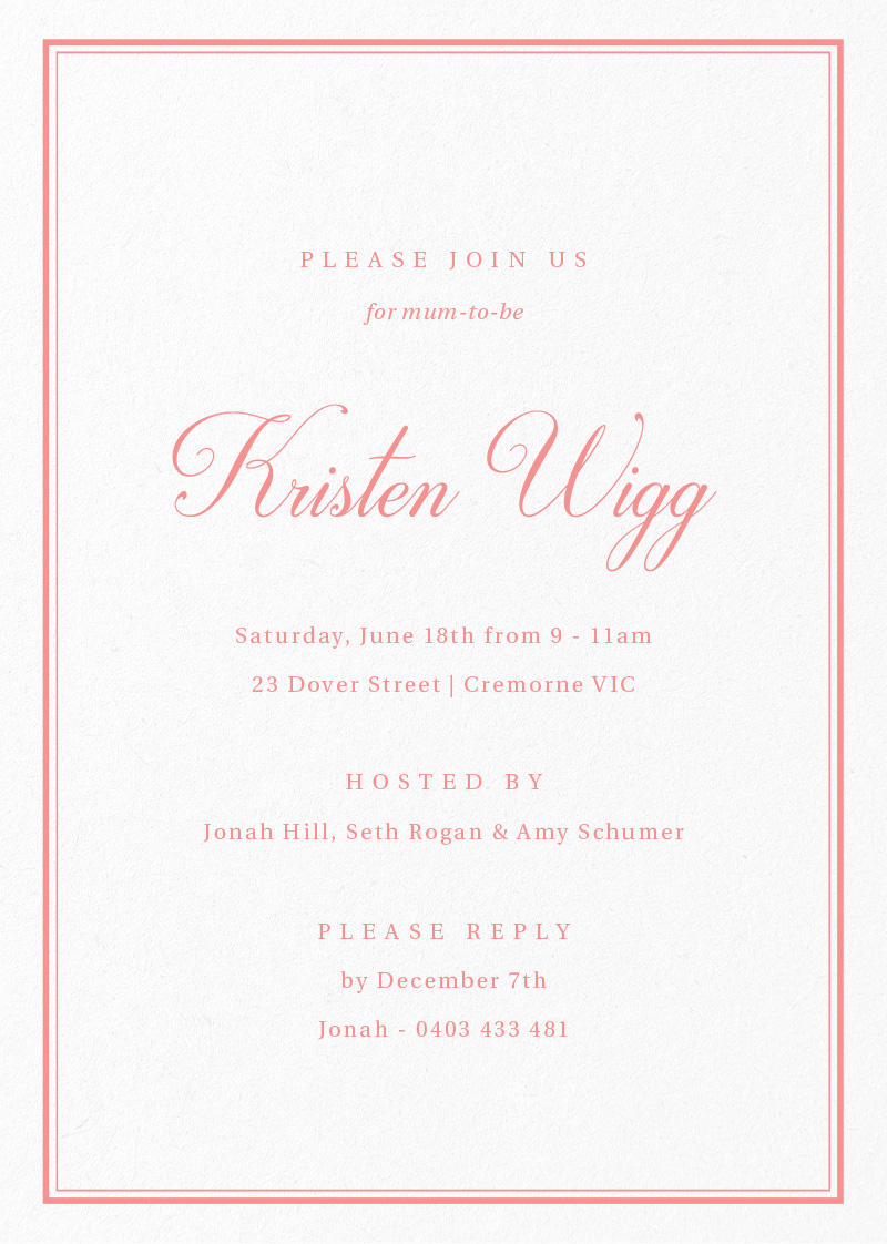 Simple Melody - Baby Shower Invitations