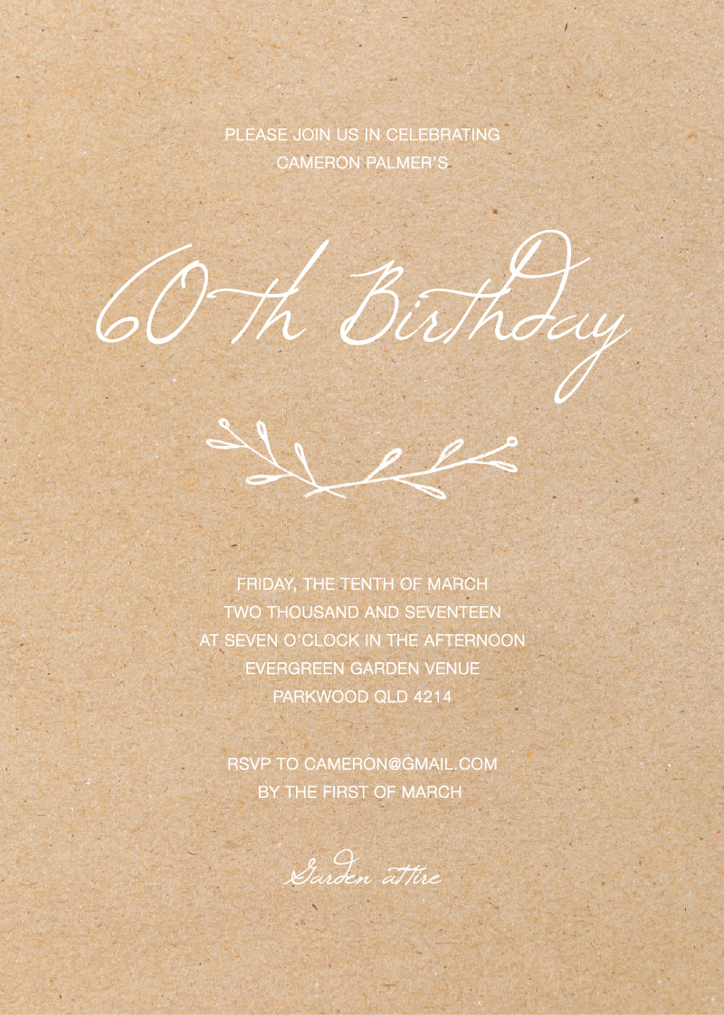 Rustic Birthday - Birthday Invitations
