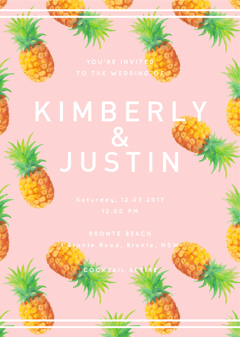 Pina Colada - Invitations