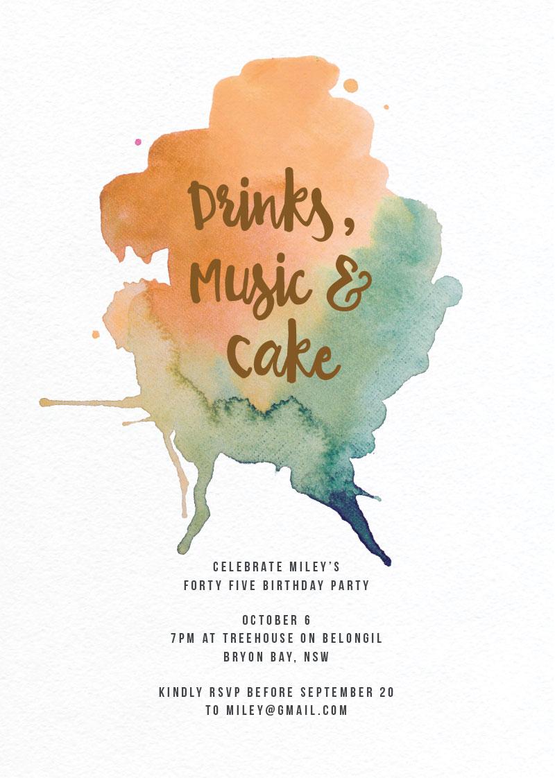 Party - Birthday Invitations