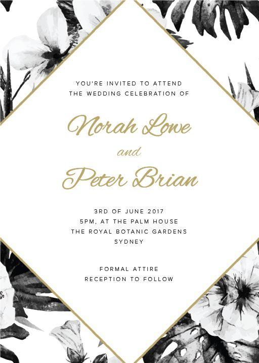 Hibiscus - Invitations