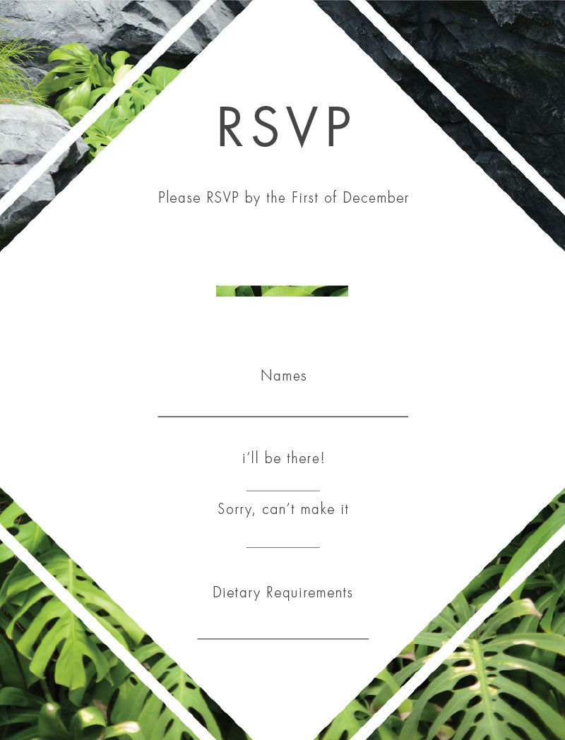 Modern Tropical - RSVP Cards