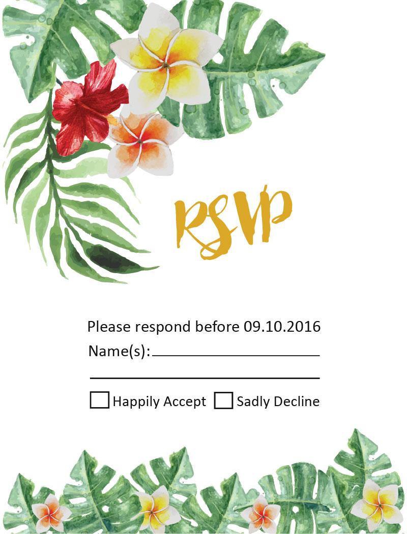 Simply Tropics - RSVP Cards