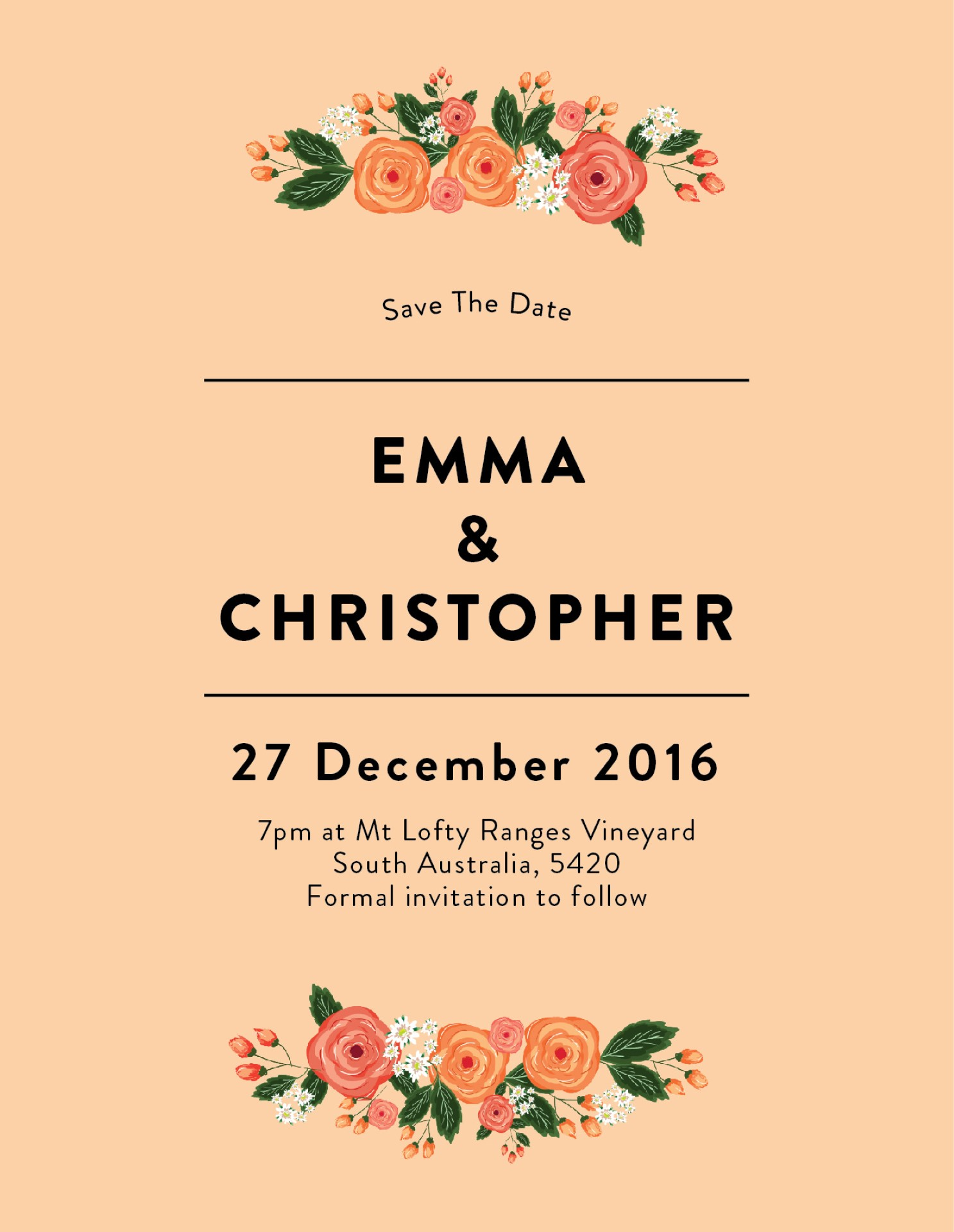 Florals - Save The Date
