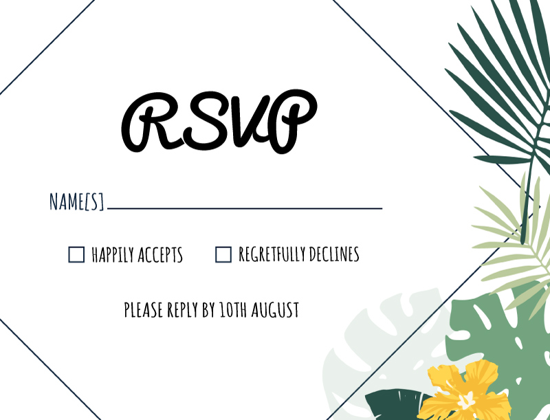 Tropical Hawaiian - RSVP Cards